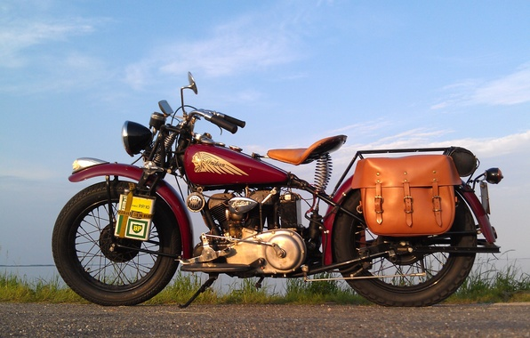 Picture style, motorcycle, bike, legend, Indian 741