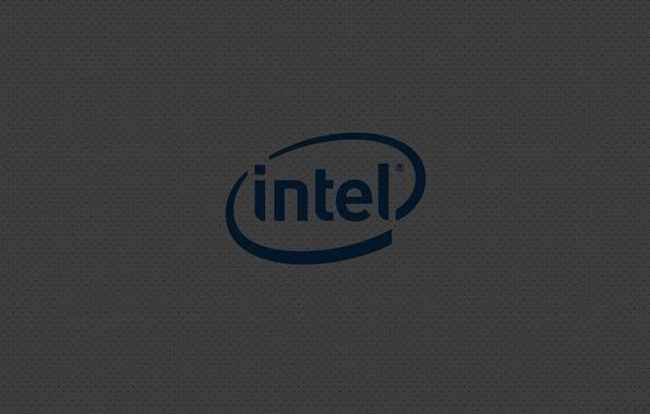 Picture logo, intel, gray