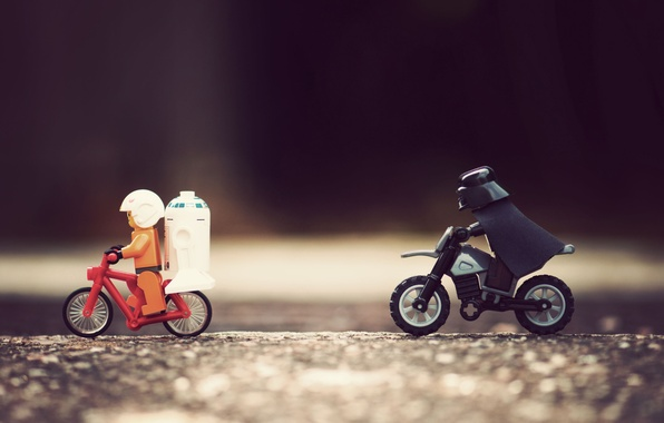 Picture chase, Astronaut, star wars, LEGO, LEGO, Darth Vader, r2d2, great, Skywalker