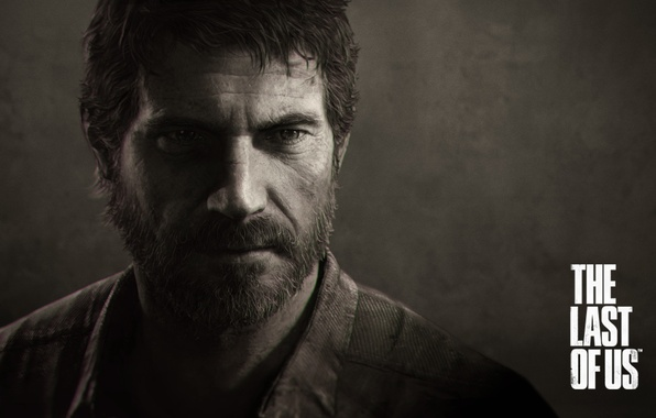 Picture look, Sepia, beard, games, naughty dog, the last of us, bearded