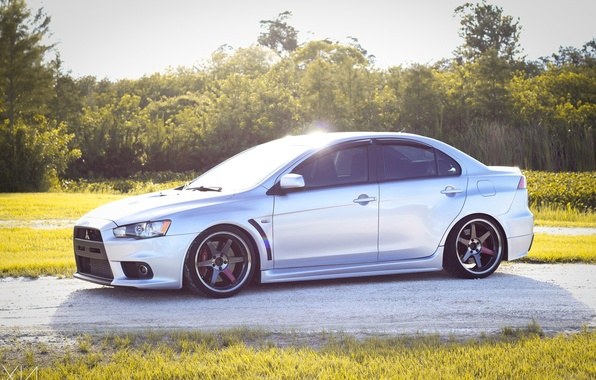 Picture turbo, wheels, mitsubishi, jdm, tuning, lancer, evolution, evo x, people