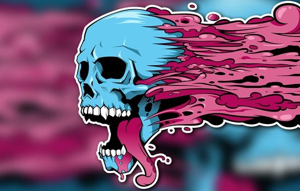 wallpaper paint  graffiti  figure  skull  skeleton  blots