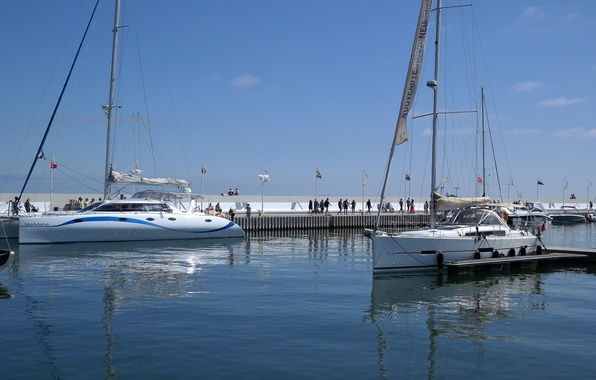 Picture yacht, Poland, pierce, harbour, catamaran, Sopot