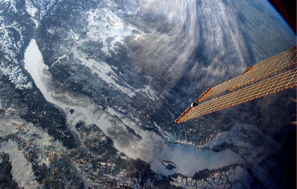 Picture lake, view, satellite, Baikal, from space