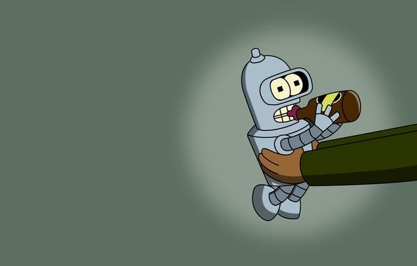 Picture Beer, Bender, Futurama, Baby