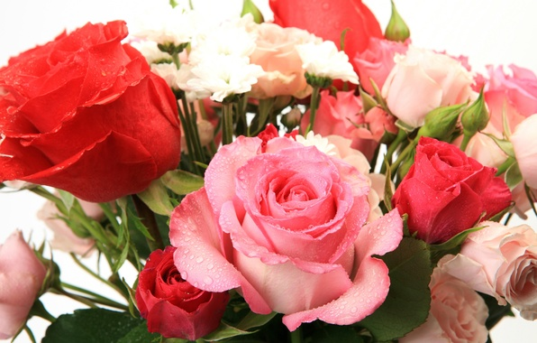 Photo Wallpaper Flowers Beautiful Bouquet Of Roses