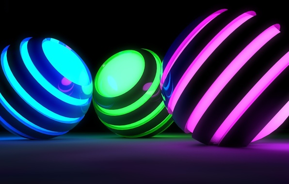 Picture color, surface, strips, reflection, lights, rendering, background, graphics, ball, glow, ring, backlight, sphere, silhouettes, shape, …