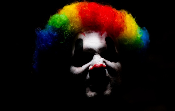 Picture background, color, clown