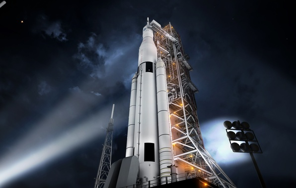 Picture rocket, NASA, start, spaceport