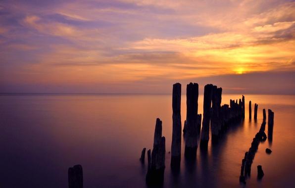 Picture dawn, Illinois, lake Michigan, Evanston, Lake Michigan Sunrise