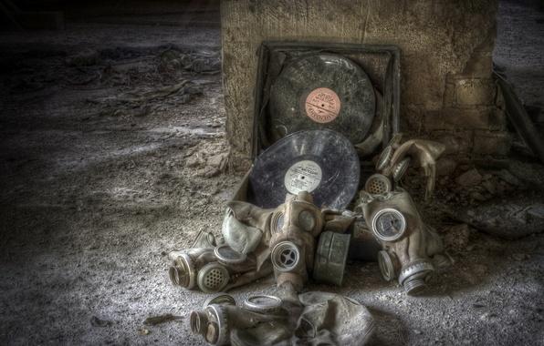 Picture music, disco, old vinyl