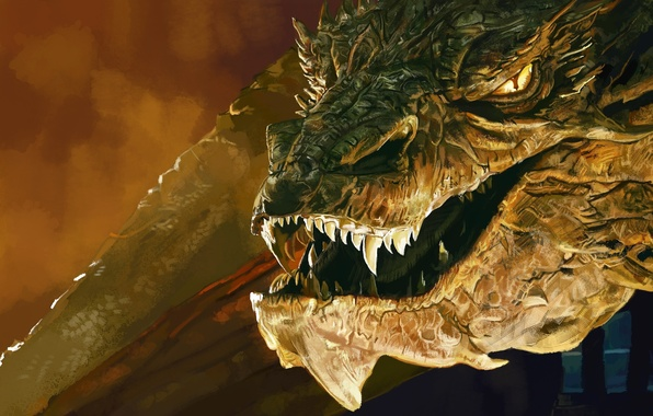 wallpaper dragon art lord of the rings the hobbit the