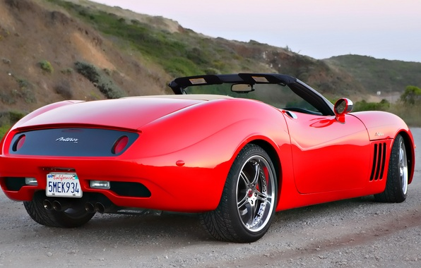Picture dream, red, sports car, convertible