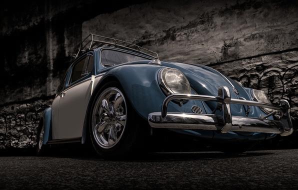 Picture retro, beetle, Volkswagen, classic, Volkswagen, Beetle