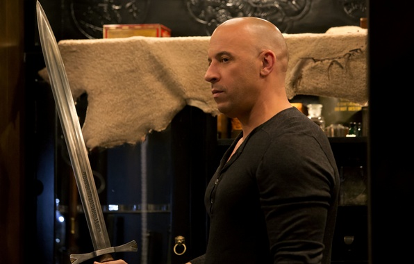 Photo wallpaper The Last Witch Hunter, The last witch hunter, sword, Vin Diesel, VIN Diesel