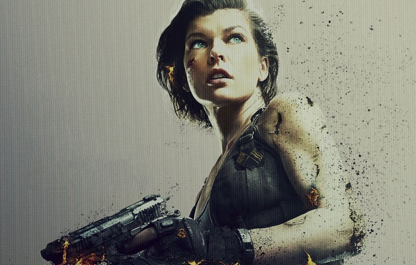 Resident Evil The Final Chapter 2016 Movie Hd Wallpaper: Wallpaper Milla Jovovich, Abrasions, Sake, Spark, Powerful