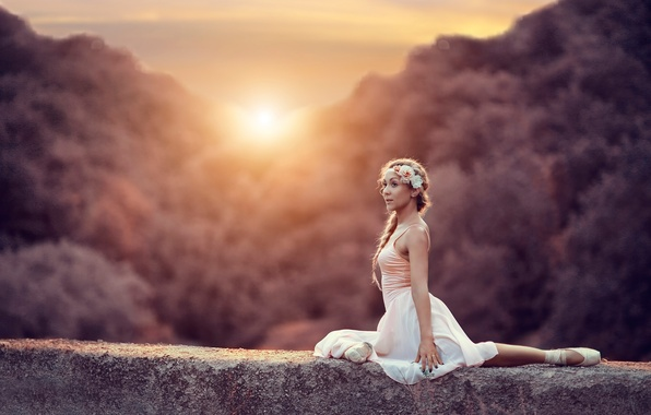 Picture the sun, ballerina, Pointe shoes, Alessandro Di Cicco, Reflection of soul