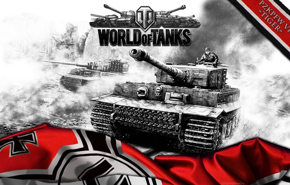 Picture tiger, Germany, art, tank, tanks, tiger, WoT, World of Tanks