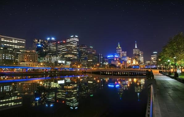 Picture night, Australia, night, Melbourne, Downtown, Australia, Melbourne