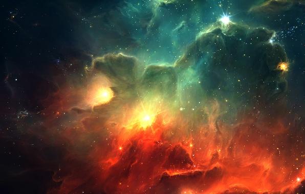 Picture stars, nebula, the universe, Space