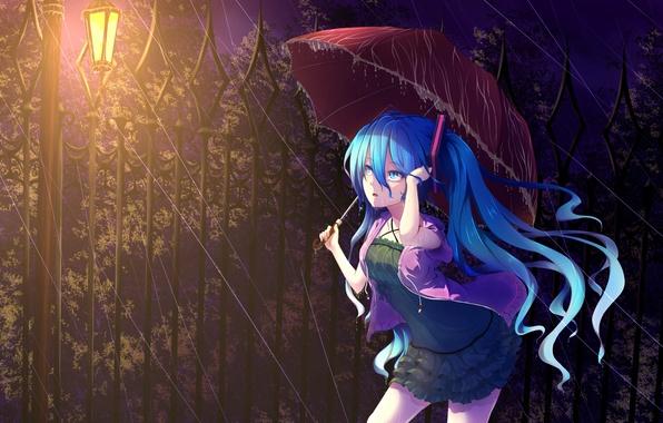 Download Wallpaper Night Lantern - art-devushka-hatsune-miku-6485  Collection-393665.jpg