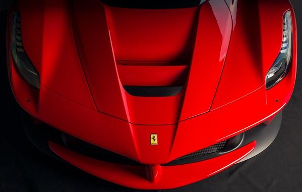 Picture Ferrari, red, front, LaFerrari