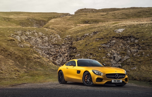 Picture yellow, Mercedes, Mercedes, AMG, AMG, UK-spec, 2015, GT S, C190
