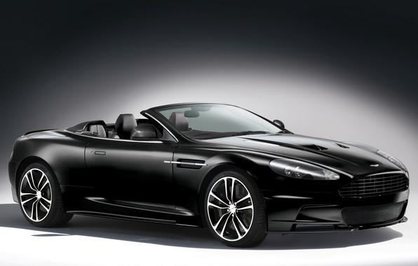 Picture background, black, Aston Martin, supercar, convertible, aston martin, dbs, the front, carbon edition, DBS, volante, …