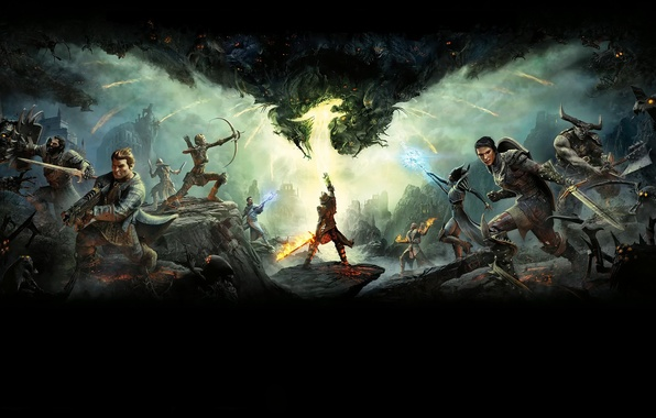 Picture Fire, Armor, Sword, Magic, Warrior, Weapons, BioWare, Electronic Arts, Dragon Age: Inquisition
