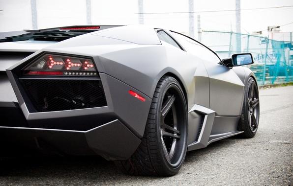 Picture Lamborghini, Reventon, Matt, dark, Lamborghini, Reventon