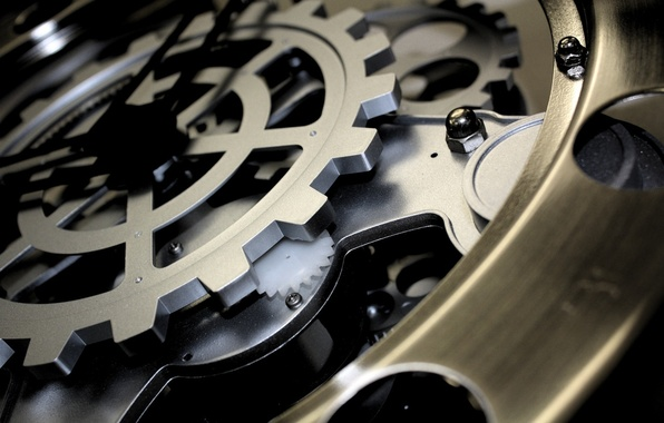 Picture watch, mechanism, gear
