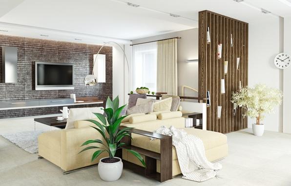 Picture flowers, design, furniture, living room, design