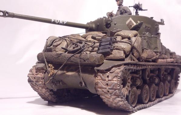 """Picture toy, tank, average, model, M4 Sherman, """"Sherman"""""""