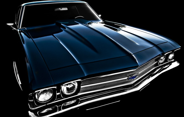 Picture retro, Chevrolet, 1969, classic, the front, Chevelle
