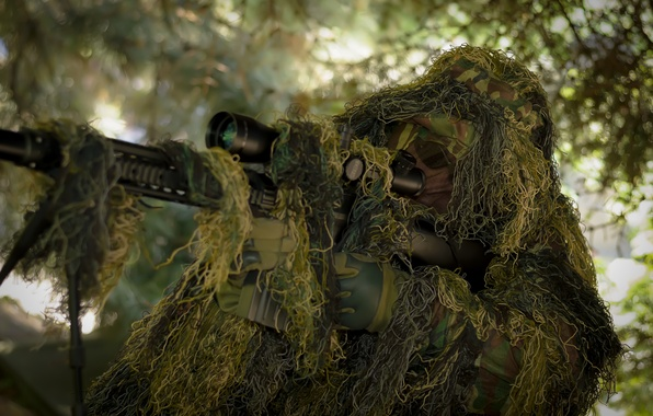 Picture optics, disguise, sniper, rifle