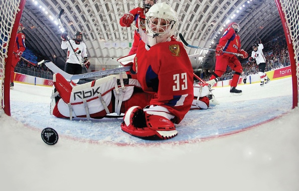 Picture ice, Russia, hockey, vancouver 2010, Canada, goalkeeper