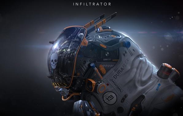 Picture robot, alien, Igor Sobolevsky, Infiltrator
