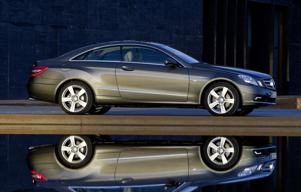 Picture reflection, mercedes-benz, coupe, e350