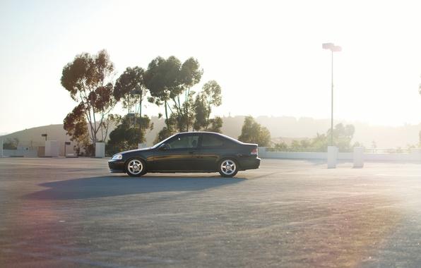 Picture car, honda, black, civic