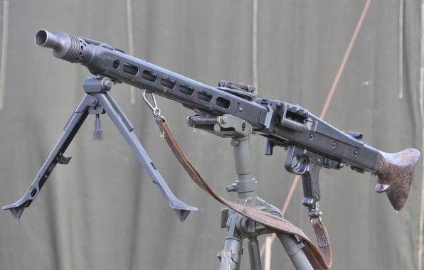 Picture weapons, war, strap, machine gun, German, world, Second, times, MG 42, single, (Machine gun 42)