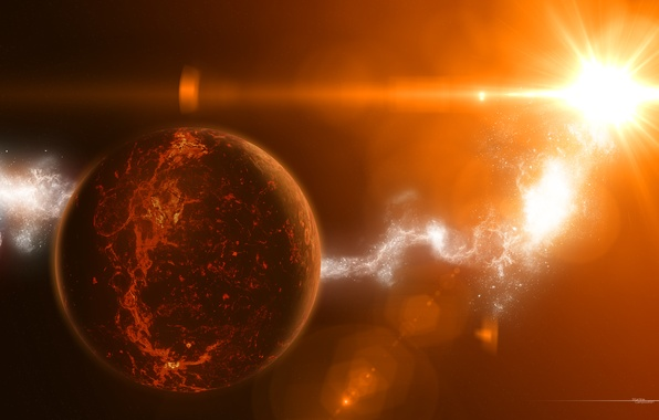 Picture light, star, planet, star, temperature, radiation