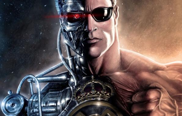 Picture the film, football, sport, mechanism, robot, club, sport, emblem, robot, Spain, club, Arnold, Schwarzenegger, football, …