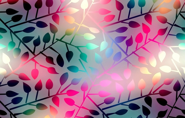 Picture leaves, background, colorful, abstract, background, leaves, shining