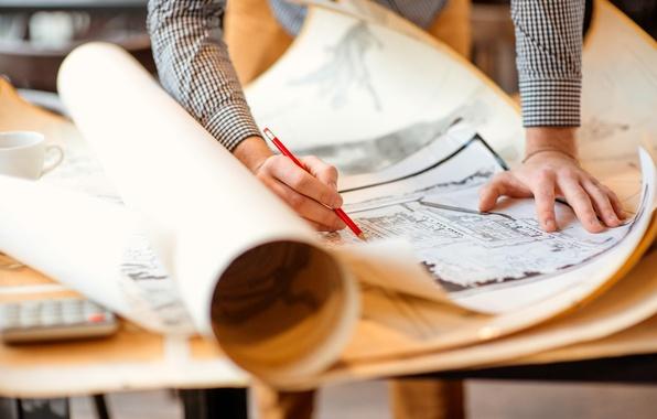 Picture project, blueprints, architect