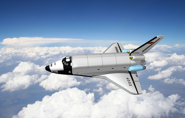 Picture Buran, Large Transport Aircraft, an analogue of Buran OK, The plane-the analog BTS-002 OK-GLEE
