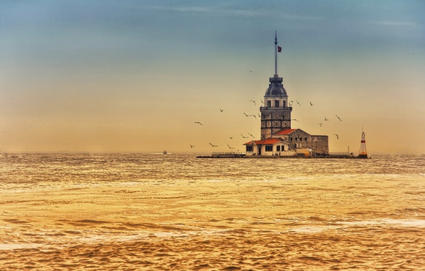 Picture Turkey, Maiden tower, Bosphorus, Maiden's Tower