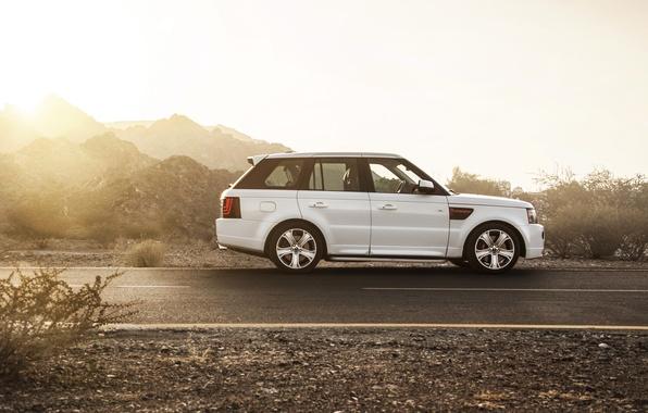 Picture car, SUV, white, range rover, Ciprian Mihai