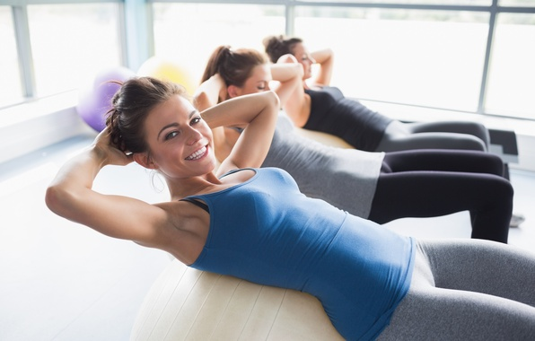 Picture Smile, Trio, Fit Girls, Yoga, Sit Ups, Gym, Exercise
