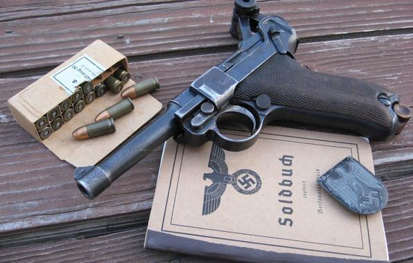 Picture gun, cartridges, document