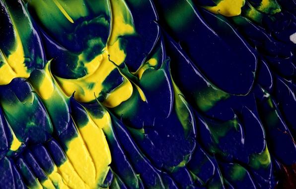 Picture color, blue, yellow, green, paint, divorce, texture